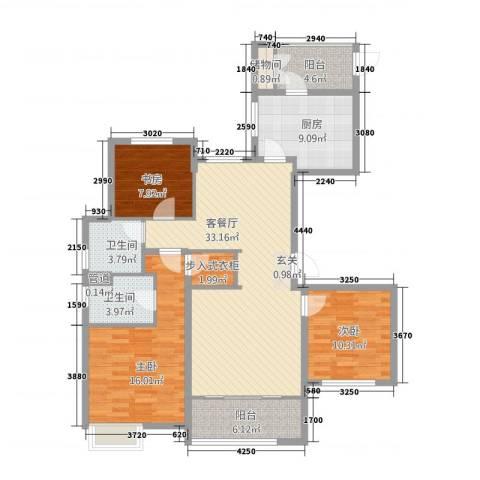 鲁商中心3室2厅2卫1厨3214.00㎡户型图