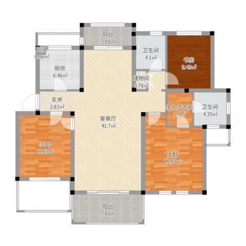 中通・凤凰城3室2厅2卫1厨157.00㎡户型图
