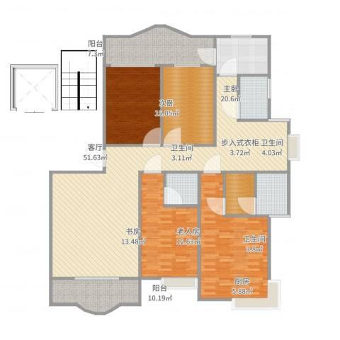 正兴・金碧华府4室1厅3卫1厨189.00㎡户型图
