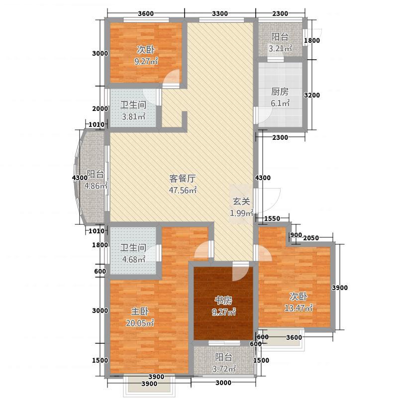 金色豪庭417174.19㎡A4#户型4室2厅2卫1厨