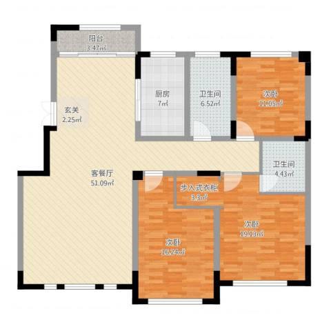 净月源山墅3室2厅2卫1厨149.00㎡户型图