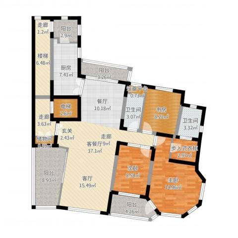 天域3室2厅2卫1厨149.00㎡户型图