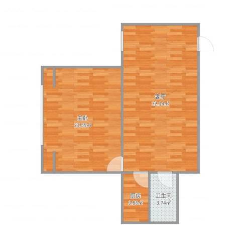 广丰花园1室1厅1卫1厨79.00㎡户型图