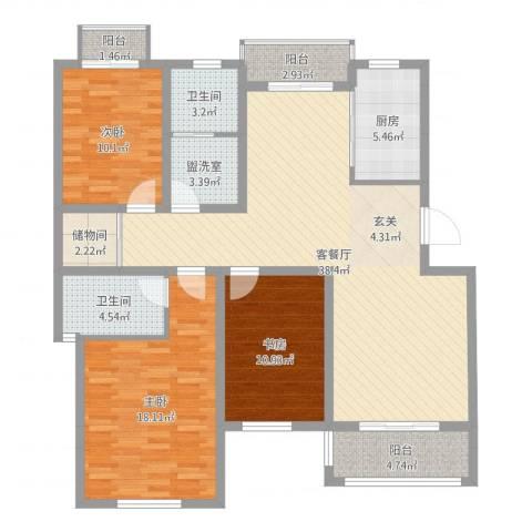 映象西班牙3室4厅2卫1厨132.00㎡户型图
