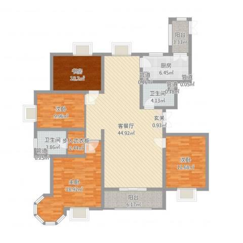 唐宁大道4室2厅2卫1厨155.00㎡户型图