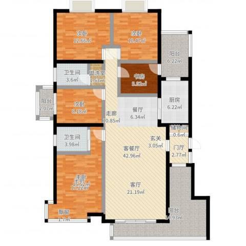 申奥美域5室2厅2卫1厨172.00㎡户型图