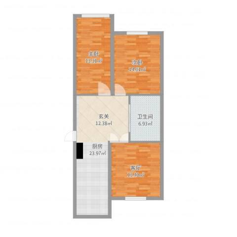 阳光世纪城2室1厅1卫1厨90.00㎡户型图