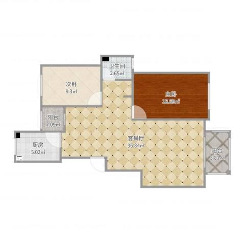 丰县翡翠城C5#3-1012室2厅1卫1厨92.00㎡户型图