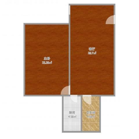 广丰花园1室1厅1卫1厨78.00㎡户型图