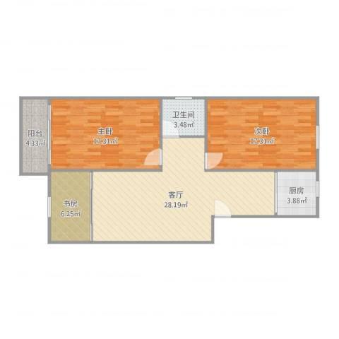 丹桂苑3室1厅1卫1厨101.00㎡户型图