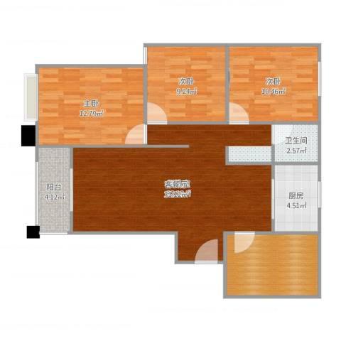 天鹅湾国际滨水社区4室2厅1卫1厨106.00㎡户型图