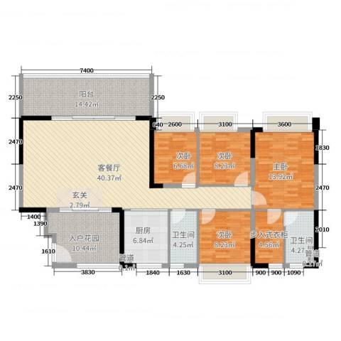 碧桂园・东江凤凰城4室2厅2卫1厨144.00㎡户型图