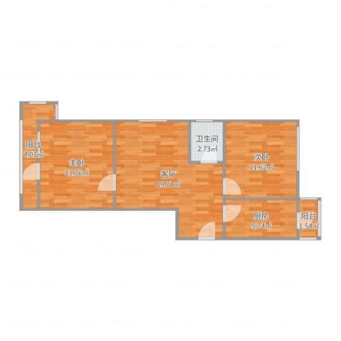 建姜东里1-3-5042室1厅1卫1厨74.00㎡户型图