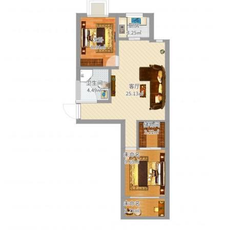 仁和佳苑1室1厅1卫1厨86.00㎡户型图