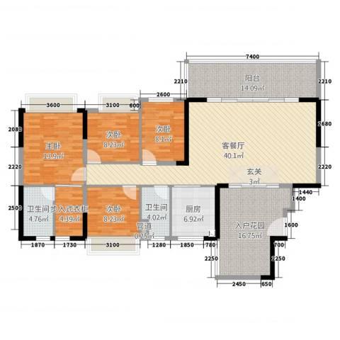 碧桂园・东江凤凰城4室2厅2卫1厨147.00㎡户型图