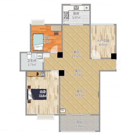 幸福人家3室1厅1卫1厨101.00㎡户型图