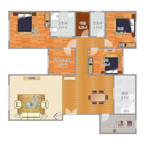 远洋天著4室1厅2卫1厨161.00㎡户型图