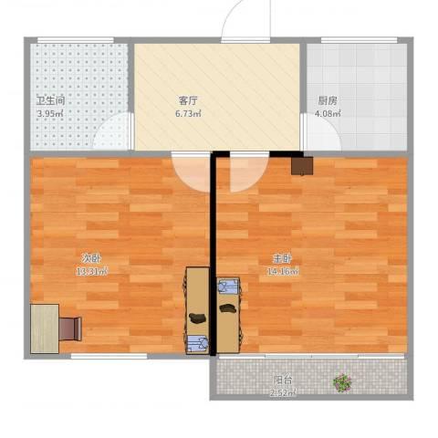临沂五村2室1厅1卫1厨49.00㎡户型图