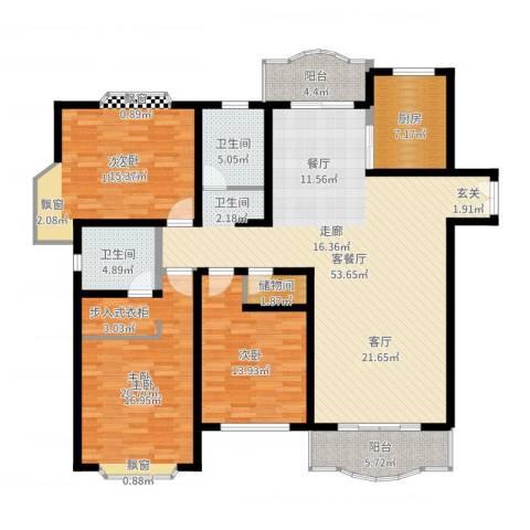 联洋新苑3室2厅2卫1厨170.00㎡户型图