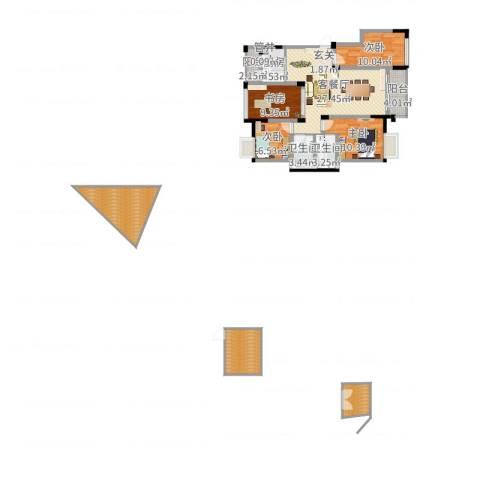 南湖学府4室2厅2卫1厨132.00㎡户型图
