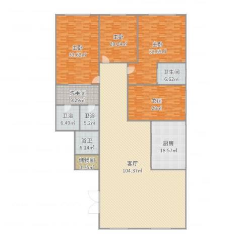 滨江花园4室1厅1卫1厨337.00㎡户型图