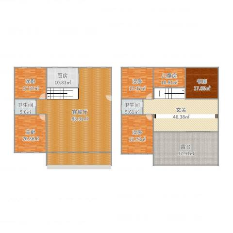 云曲山庄6室2厅2卫1厨394.00㎡户型图