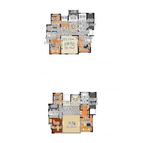 东方纽蓝地6室2厅5卫1厨535.00㎡户型图