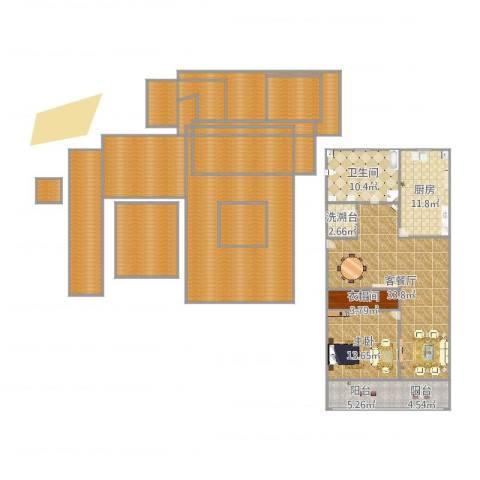 宝林六村1室2厅1卫1厨257.00㎡户型图