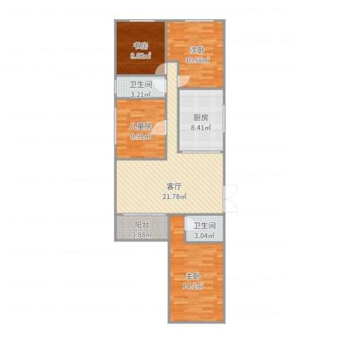 尚辉苑C3座10174室1厅2卫1厨103.00㎡户型图