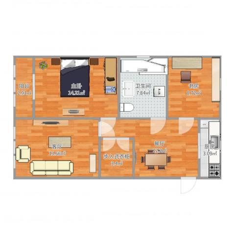 月浦八村2室2厅1卫1厨83.00㎡户型图