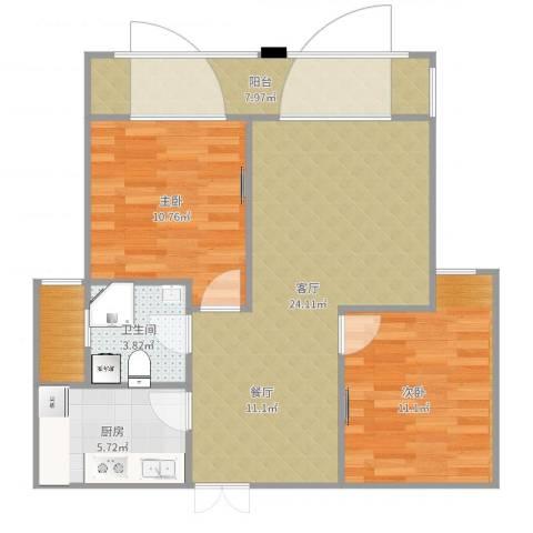 紫金天境1室1厅3卫1厨82.00㎡户型图