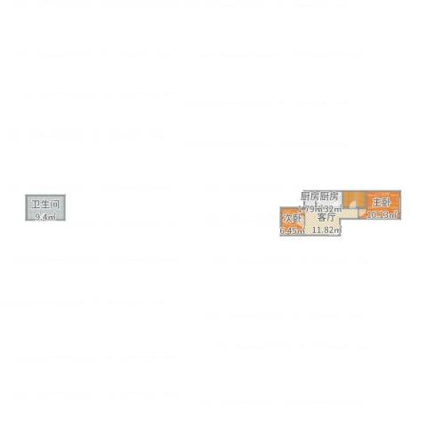 南宫小区2室1厅1卫2厨60.00㎡户型图