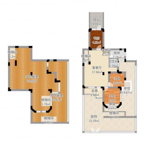 申亚花满庭3室2厅1卫1厨172.00㎡户型图
