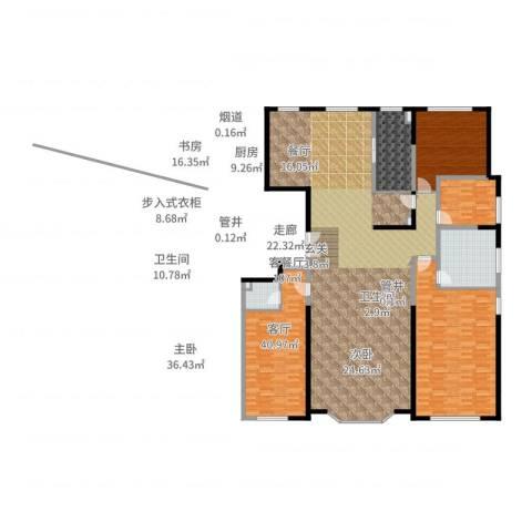保利海德公园3室2厅2卫1厨271.00㎡户型图