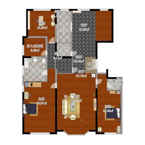 保利海德公园3室1厅3卫1厨269.00㎡户型图