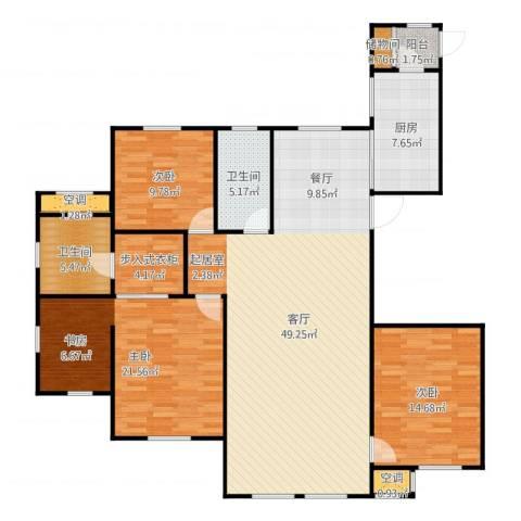 水韵豪庭3室1厅2卫1厨153.00㎡户型图