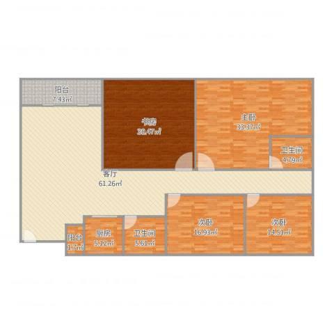 怡翠花园4室1厅2卫1厨226.00㎡户型图