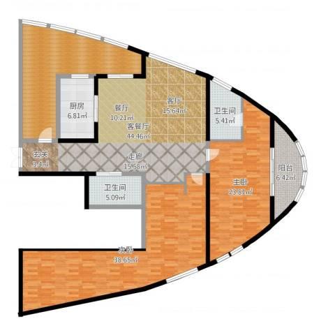 道生中心2室2厅2卫1厨191.00㎡户型图