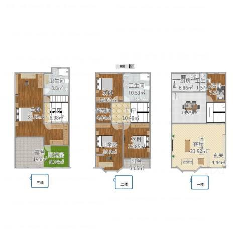 天水家园5室2厅3卫1厨260.00㎡户型图