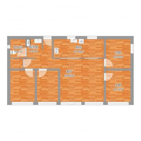 广安苑2室1厅1卫1厨128.00㎡户型图