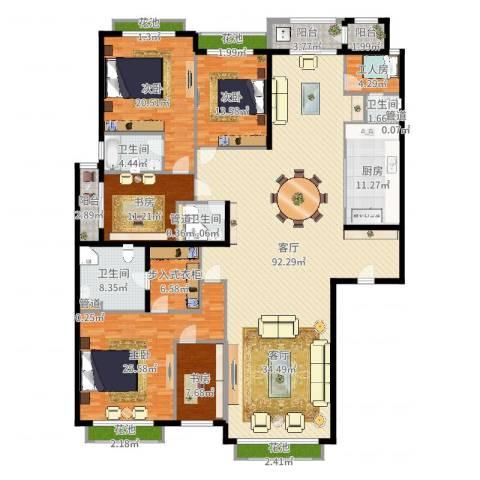 开明小区5室1厅4卫1厨285.00㎡户型图