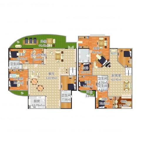 广顺现代城7室1厅8卫2厨592.00㎡户型图