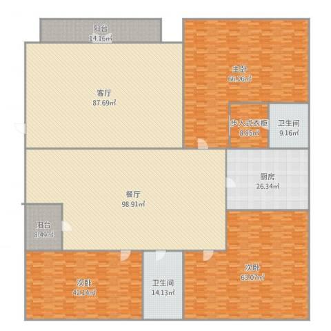 奥园华庭3室2厅2卫1厨549.00㎡户型图