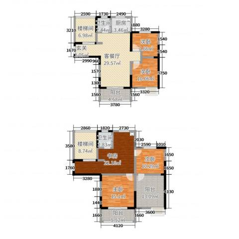 丰朔名仕豪庭5室2厅2卫1厨177.00㎡户型图