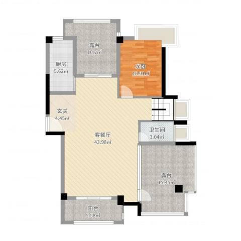 联发欣悦园1室2厅1卫1厨118.00㎡户型图