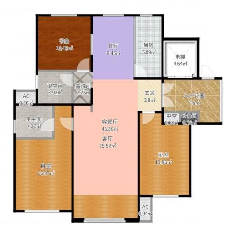 凡尔赛颐阁二期1室2厅2卫1厨145.00㎡户型图