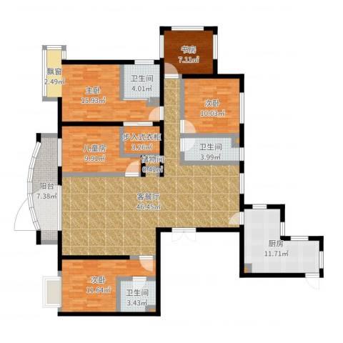 北京城建·世华泊郡5室2厅6卫2厨169.00㎡户型图