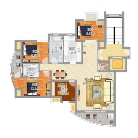 华泰剑桥4室1厅2卫1厨151.00㎡户型图