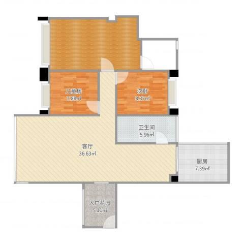 英郦庄园・曼城2室1厅1卫1厨111.00㎡户型图
