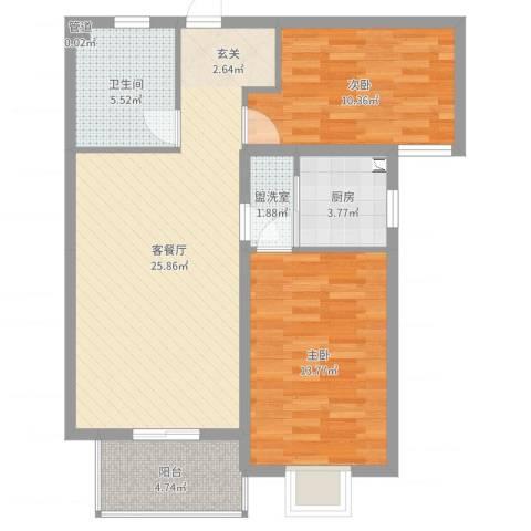 广福花园2室4厅1卫1厨82.00㎡户型图